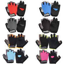 Half-Finger Gloves Riding-Accessories Bicycle Bike Anti-Slip Outdoor Mesh MTB Breathable