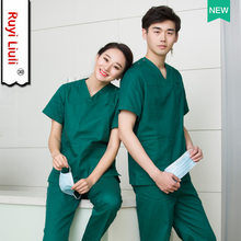 surgical gown new fashion V-neck men and women doctors nurses uniforms beauty salons dental clinic overalls suits
