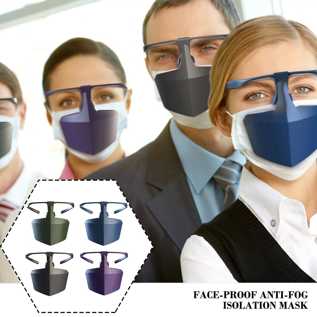 Reusable Face-Shielding Protective Face Mask Anti-Fog Anti-Splash Anti-Fog Dust Isolating Shield Protective Equipment