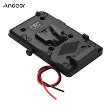 Sony v mount v lock 배터리 용 d tap 출력이있는 andoer 백 팩 플레이트 어댑터 dslr 카메라 캠코더 비디오 라이트 용 외부