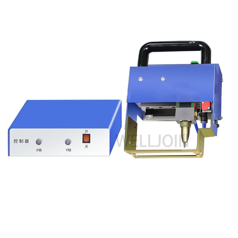 Portable Metal Pneumatic Dot Peen Marking Machine For VIN Code(80*20mm) Frame Marking Machine chassis number 220V