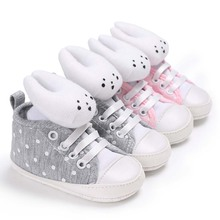 Baby Canvas Shoes Kid Boy Sneakers Girl Booties Rabbit Cartoon Cotton Soft Sole First Walker Anti-slip Crib Shoes Toddler Infant