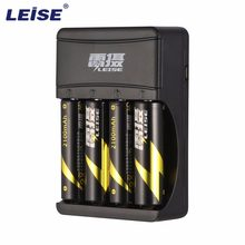 LEISE 4 Slots Smart USB Rechargeable Battery Charger with LED Indicator Charging for AA & AAA Ni-MH Batteries(China)