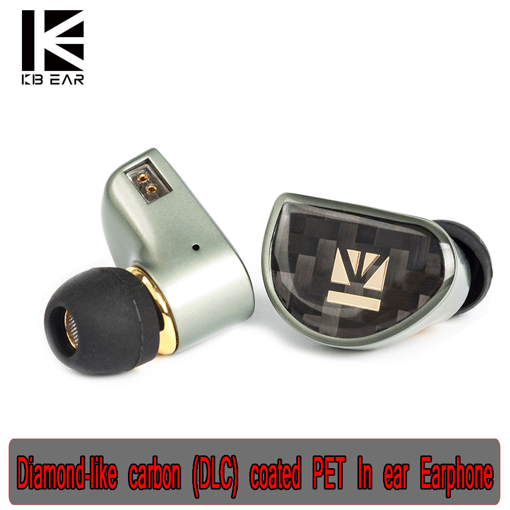 New KB06 HiFi Earbud Diamond Diamond-like Carbon (DLC) Coated PET In Ear Earphone <font><b>0.78</b></font> <font><b>2pin</b></font> <font><b>Cable</b></font> DJ Sports Balanced Headset image
