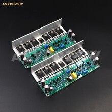 2 CH L15 güç amplifikatörü IRFP240 IRFP9240 FET kartı açısı alüminyum/ısı emici ile