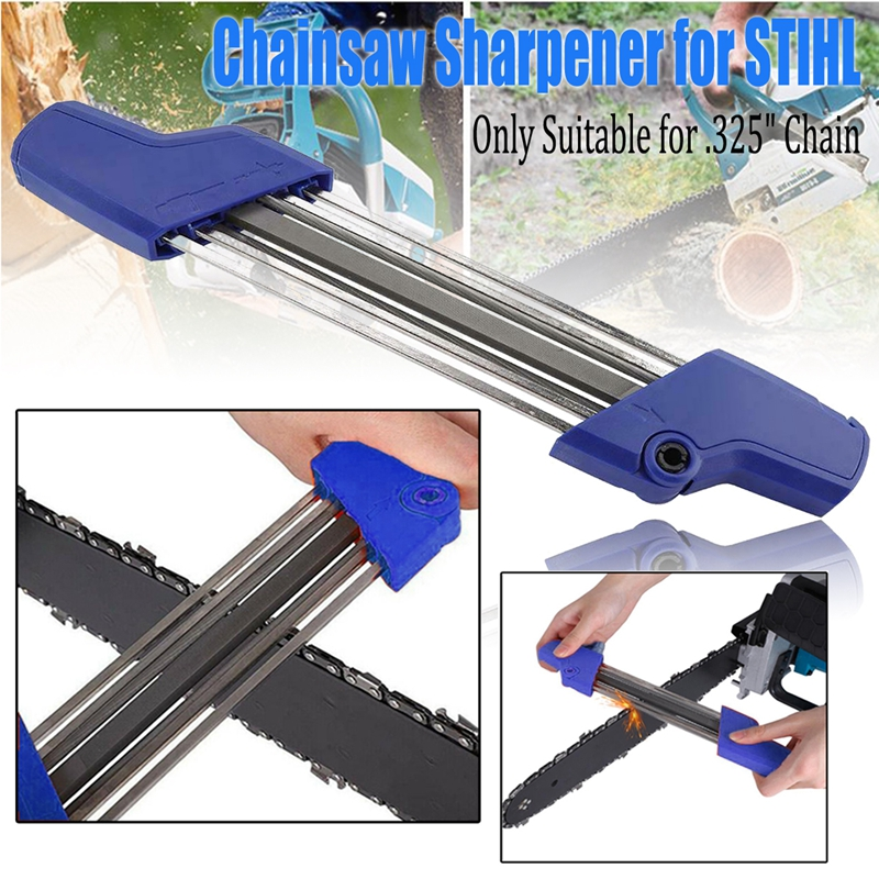 Blue 2 In 1 Easy Chain Saw Sharpener File Handheld Mini Metal Electric Grinder Fast Chain Saw Sharpener 4.8 Mm Accessory Tool