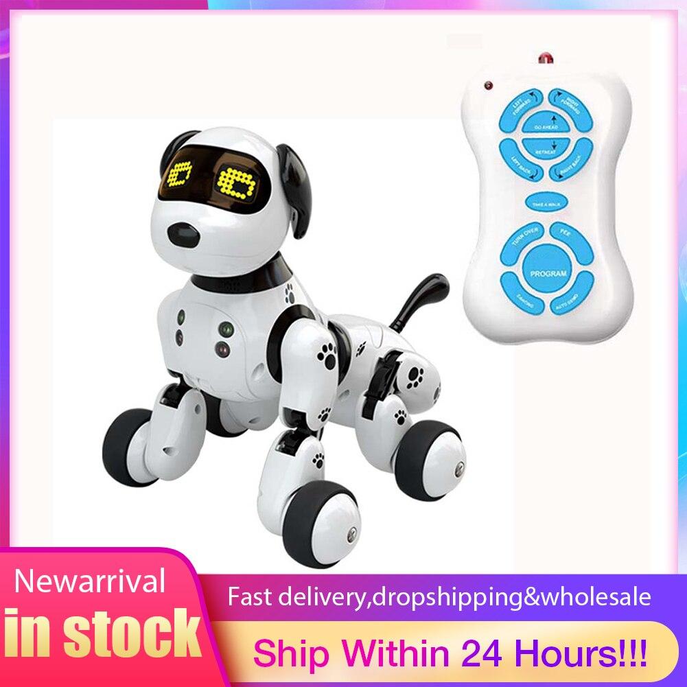 novo programavel 2 4g controle remoto sem fio inteligente robo cachorro criancas brinquedo inteligente falando robo
