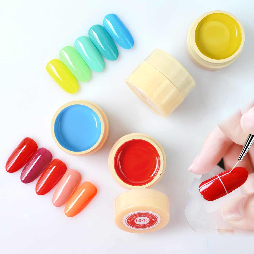 Venalisa UV Gel Neue 2020 Nail art Tips Design Maniküre 60 Farbe UV Tränken Weg DIY Farbe Gel Tinte UV Gel Nagellacke Lack