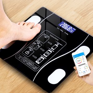 Bluetooth Body Fat Scale Floor Scale Smart Bathroom Weight Scale Body Composition Analyzer Connect Smartphone Apps Via