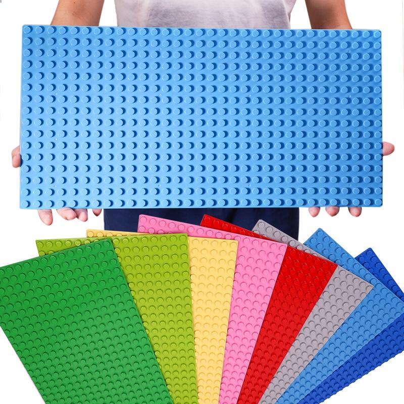 512 Duploe Big Bricks Base Plate 16*32 Dots 51*25.5cm Baseplate DIY Building Blocks Toys For Children Compatible Legoings Duploe