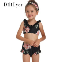 New Kid S Swimwear Swimsuit Two Piece Sets Print Europe and America Hot Selling Split Type Girl Mother & Daughter Women s