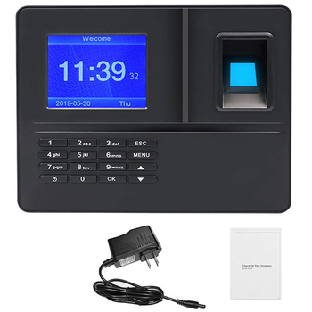 HOT-US Plug,H6 Attendance Machine Intelligent Biological Fingerprint Password Attendance Machine Employee Sign-In Recorder