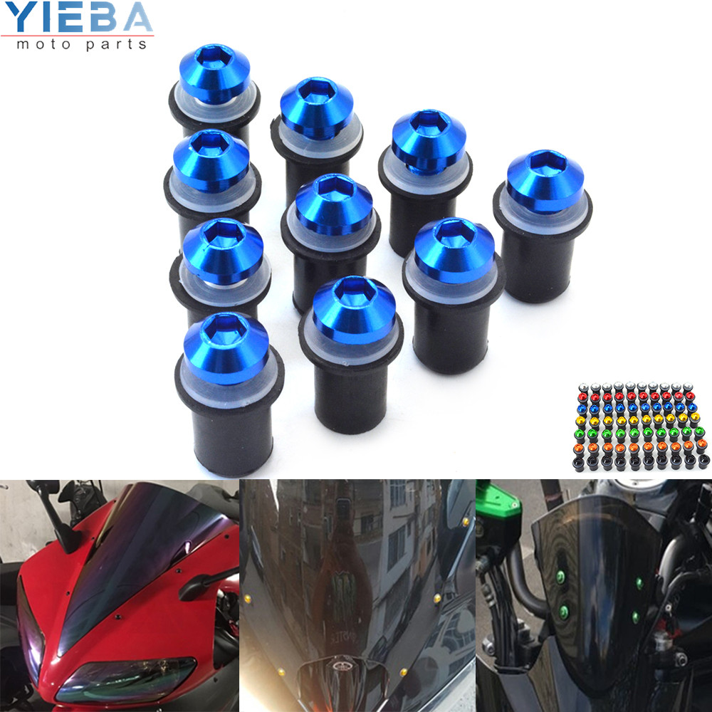 High Quality Motorcycle Universal Windscreen Windshield Bolts Screw FOR <font><b>Suzuki</b></font> GSXR600 <font><b>K6</b></font> K9 <font><b>GSXR1000</b></font> K5 GSXR750 GSX-R1000 K3 K4 image