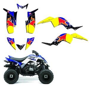 Image 3 - Full Team Decals Stickers Graphic DECO Kit ATV For Yamaha RAPTOR 90 YFM90 2009 2010 2011 2012 2013 2014 2015