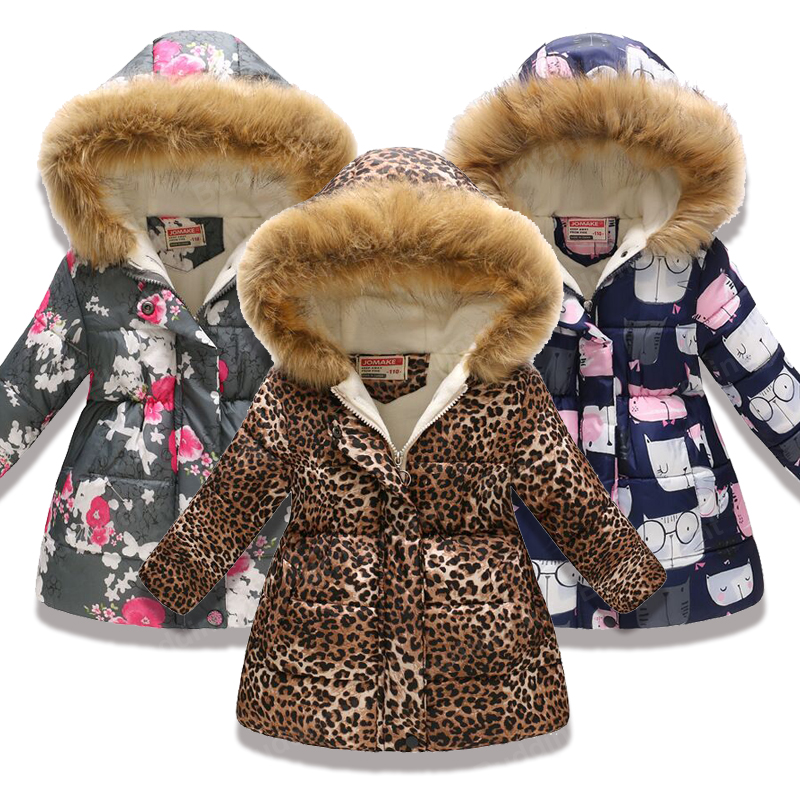 Fashion <font><b>Children</b></font> Clothing <font><b>Winter</b></font> Fur Jacket <font><b>For</b></font> Girls <font><b>8</b></font> 10 <font><b>years</b></font> Warm Hooded Thick Cotton-Padded Long Coats Fur Toddler <font><b>Clothes</b></font> image