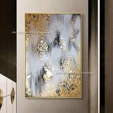 2019 جديد 100% رسمت باليد مجردة الذهب الفن جدار صورة اليدوية الذهبي شجرة لوحة زيتية قماشية لغرفة المعيشة ديكور المنزل