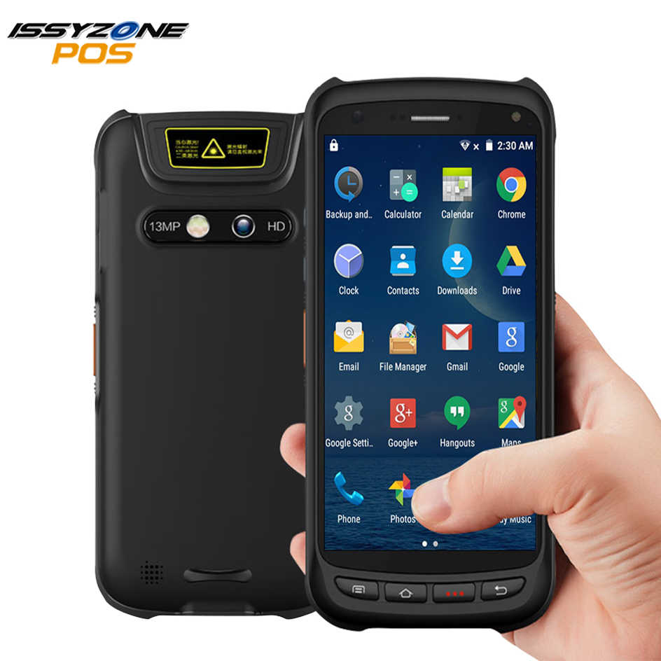 Issyzonepos Handheld Android Scanner Pos Terminal 2D Barcode Pda Robuuste Scanner 4G Wifi Gps Bluetooth Nfc Pda Data Collector