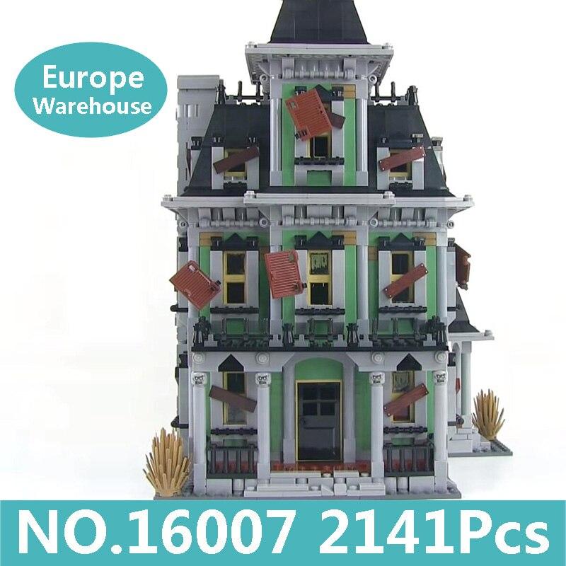 König Ziegel 16007 Haunted Haus Modell Bausteine Set Film Architektur 10228 Spielzeug Für Kinder Halloween Geschenk Lepinblocks-in Sperren aus Spielzeug und Hobbys bei  Gruppe 1