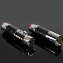2 пары/4 пары, 3 контактный разъем XLR из углеродного волокна с латунным покрытием и родиевым золотом