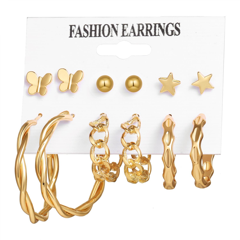 Набор винтажных серег с перекрестными краями, модные женские серьги с геометрической инкрустацией жемчугом, элегантные и красивые, 2021