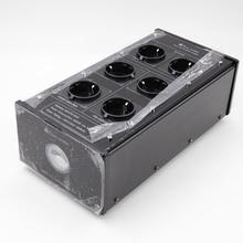 Bada LB 5600 planta de filtro energia alta fidelidade schuko soquete 6 maneiras ac condicionador energia audiophile purificador com tomadas da ue