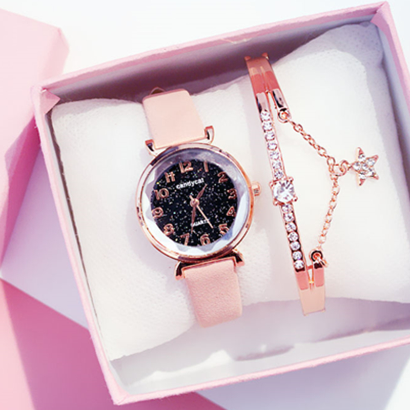 Women Bracelet Watch Casual Ladies Romantic Starry Sky Wrist Watch Leather Dress Female Clock Quartz Wristwatch relogio feminino