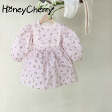 Girls Baby bodysuits Floral Dress One-Piece Suit Baby Bag Sk