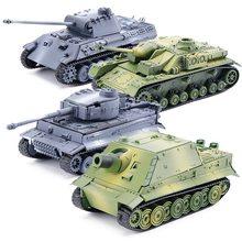 4d tanque modelo bloco de construção wwii alemão tigre panther tanque conjunto militar modelo 1:72 simulação tanque mesa brinquedos presente para o menino