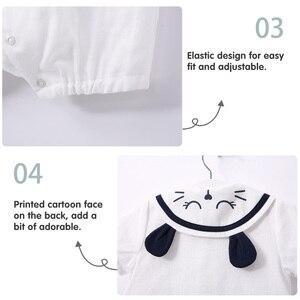 Image 5 - をpureborn新生児少年ロンパースセーラーホリデーベビー服夏通気性の綿ベビーロンパースクリスマス服