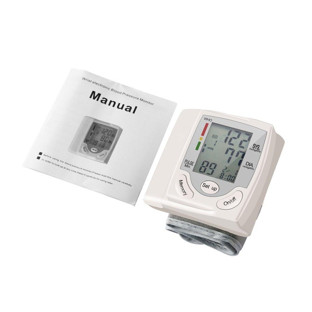 U-Kiss Household Blood Pressure Automatic Digital LCD Display Wrist PIR MotionSensor Monitor Heart Beat Rate Pulse Meter Measure