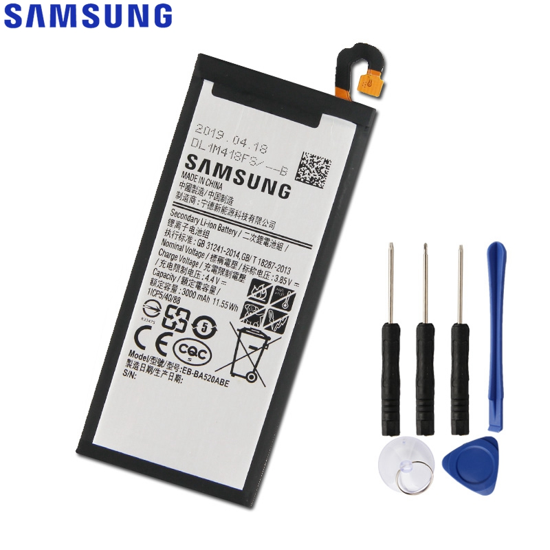 Original Replacement Samsung Battery For Galaxy 2017 Edition A5 2017 A520F SM-A520F Genuine Phone Battery EB-BA520ABE 3000mAh