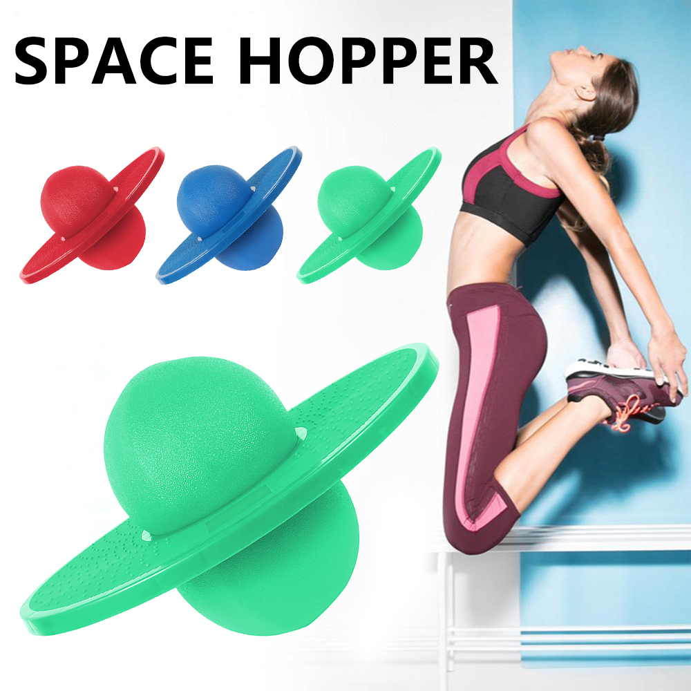 Exercise Jumping Bounce Balls Yoga Fitness Ball Rock Hopper Pogo High Bounce Space Balance Jump Board Ball Exercise Balance Ball