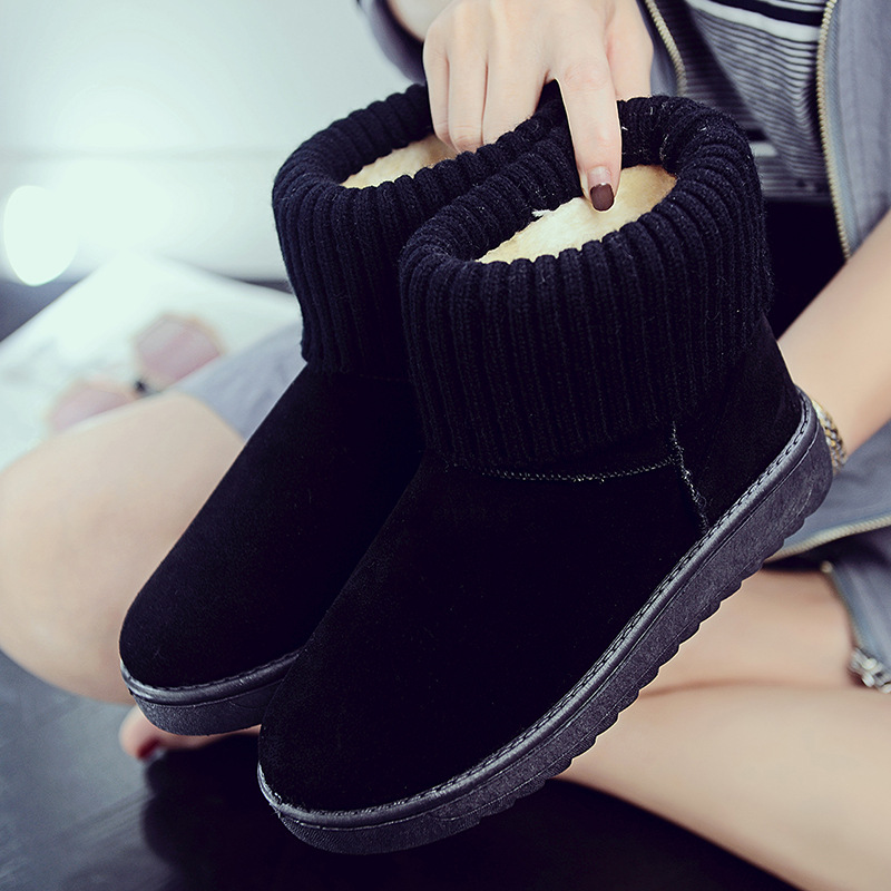 Women's new snow boots winter fashion wild classic women's shoes simple warm non-slip waterproof wool shoes ladies ankle boots 70