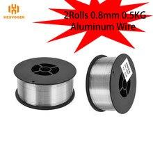 HZXVOGEN-Alambre de soldadura de aluminio, 2 rollos, 0,8mm, 0,5 KG, compatible con soldador Mig de Gas