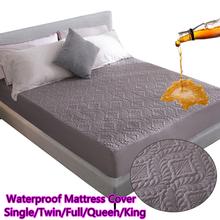Podwójna tkanina wodoszczelna narzuta na materac na łóżko wodoodporny pikowany tłoczony podkładka ochronna dopasowane prześcieradło oddzielona woda tanie tanio ZHENXISHUSHIMOXI CN (pochodzenie) Poliester bawełna 400tc PRINTED GEOMETRIC Żakardowe Domu Hotel