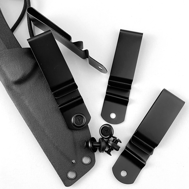 1piece Stainless Steel Scabbard Back Clip Mini Belt Holster Sheath DIY Carrying Waist Clips With Screws For Kydex