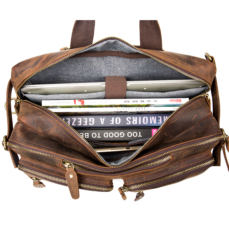 Men Oil Genuine Leather Backpacks Designer Brand Classic Large Capacity Shoulder Bag Vintage Handmade Multifunctional Daypack