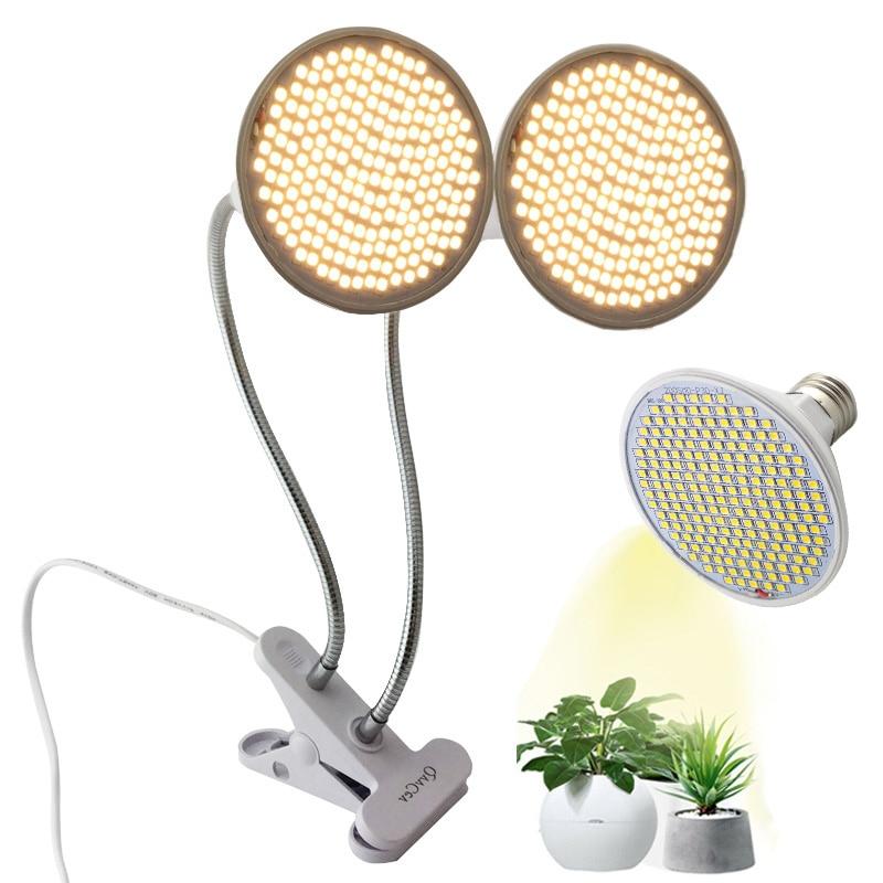 Full Spectrum Sunlight Vegs Cultivo Phyto Lamp 200 LED Plant Grow Light Flower Seeds Home Growbox Indoor Clip Fitolamp Phytolamp