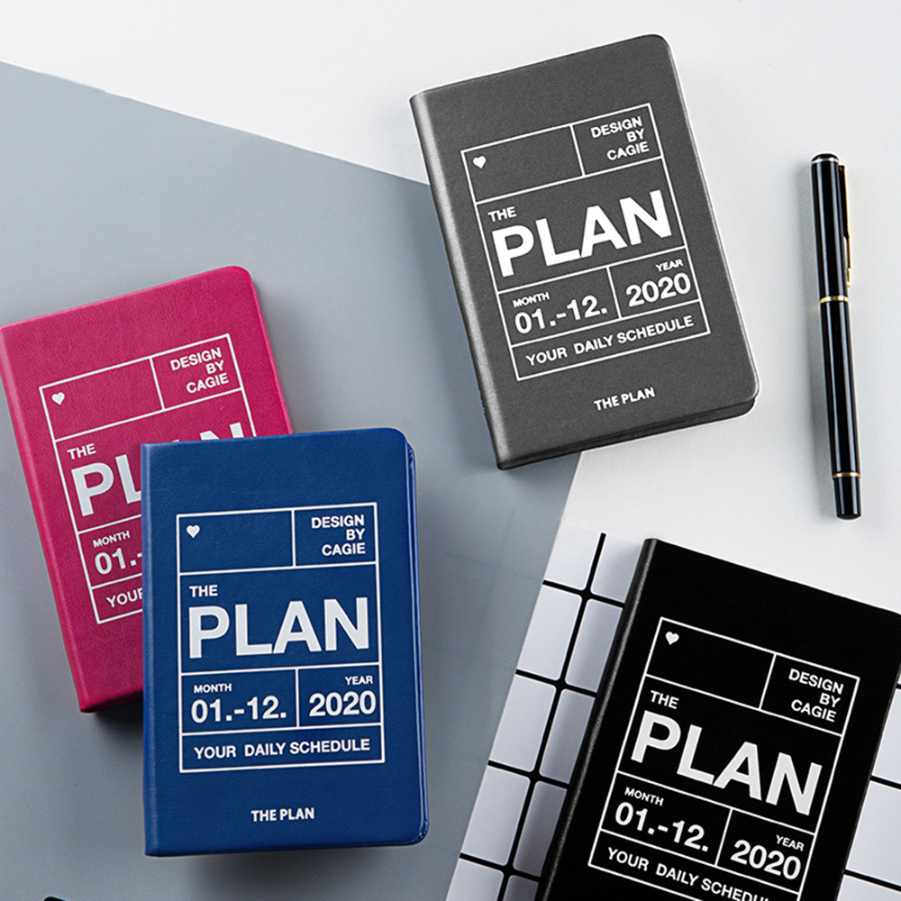 <font><b>2020</b></font> <font><b>Planner</b></font> Agendas A7 Diary Organizer Notebook and Journals Weekly Monthly Business Back to School Travel Note Book Plan Mini image