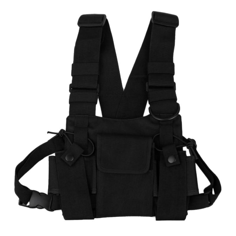 Walkie-Talkie Backpack Chest Bag Leather Vest