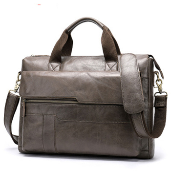 High-end Casual Men's Briefcase Business Messenger Bag Cowhide Leather Crossbody Travel Bag