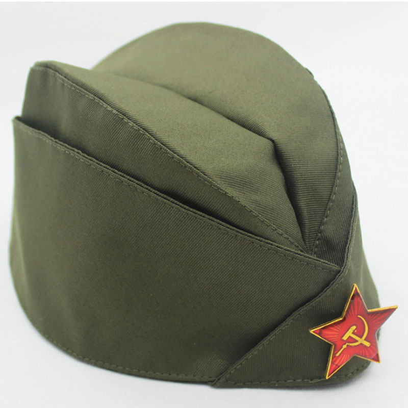 Military Hat Russian Army Cap Green Camo Badge Women Men Sailor Stage Performance Cosplay Hats Chinese Boat Cap Berets Cap
