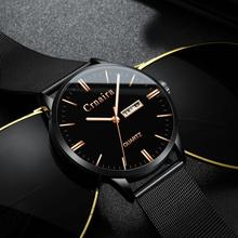 Watch Men Watches Ultra-Thin Business Men Watches Quartz Stainless Steel Band Simple Date/Week Wrist Watch for Male Clock fotina casual brand bosck quartz men watch ultra thin waterproof unisex stainless steel women dress ultra thin watches for men