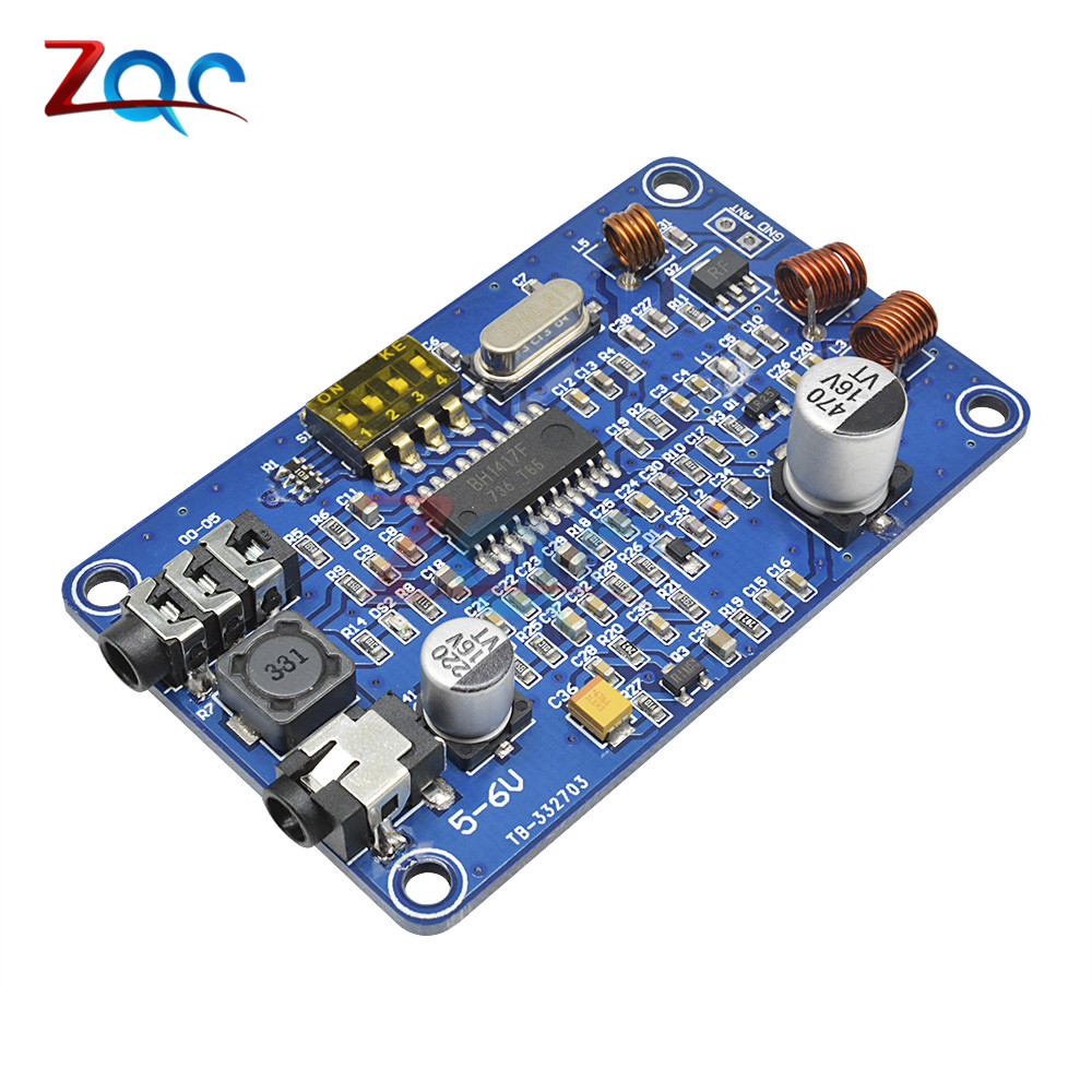 <font><b>BH1417</b></font> 200M 0.5W Digital Radio Station PLL Wireless Two Channel Stereo FM Transmitter Module DC 5-6V image