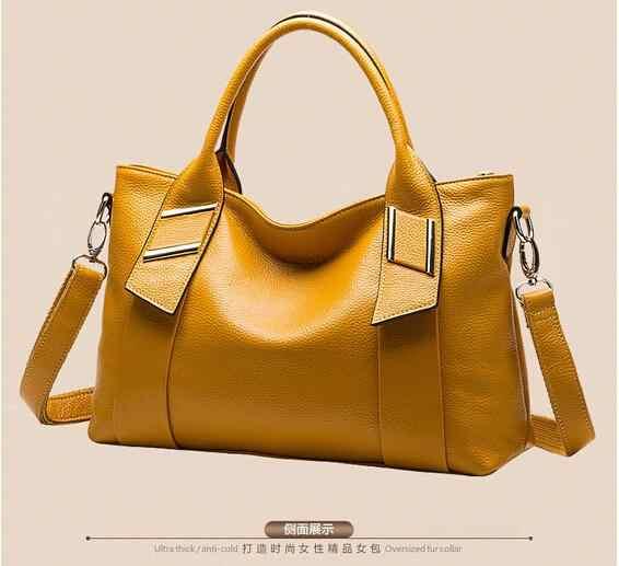 100% جلد طبيعي النساء حقائب 2019 مصنع الجملة أزياء حقائب الراقية المحمولة الترفيه الإناث حقيبة حقيبة كتف