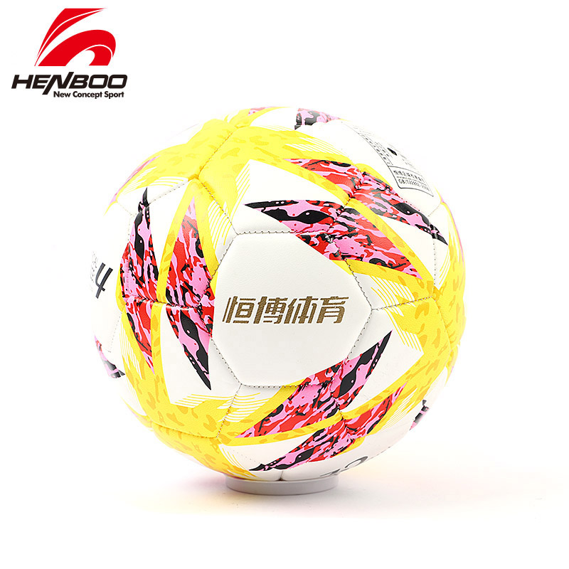 HENBOO Size 4 Inflatable Soccer Ball Official Multicolor League Ball Outdoor Sports Soccer Training Balls Football PU Leather