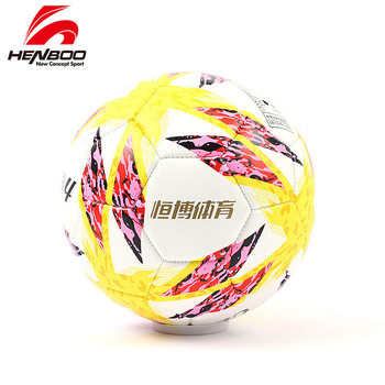 HENBOO Size 4 inflatable Soccer Ball Official Multicolor League Ball Outdoor Sports Soccer Training Balls Football PU leather inflatable football ball inflatable soccer ball game for adults and kids