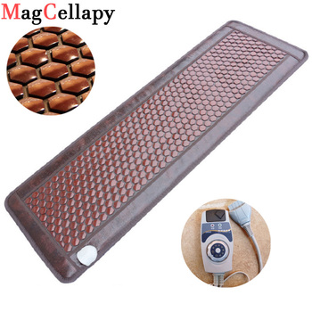 Electric Heated Jade Germanium Stone Massage Mattress Natural Jade bed Tourmaline Stones Sofa Pad Infrared Heating Mat цена 2017