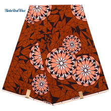 Veritable Dutch Real Wax African Fabric Flower Printed Ankara Nigeria style FP6139