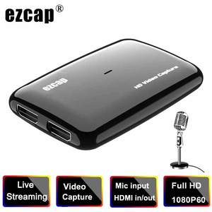 Card-Grabber Video-Capture Game Recording XBOX Live-Streaming-Mic HDMI To 1080P 60FPS
